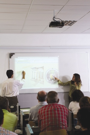 Aula con eBeam Projection
