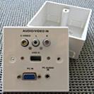 caja de conexiones audio visual vga sonido
