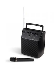 Equipo de amplificación portátil 20 W con micrófono de mano