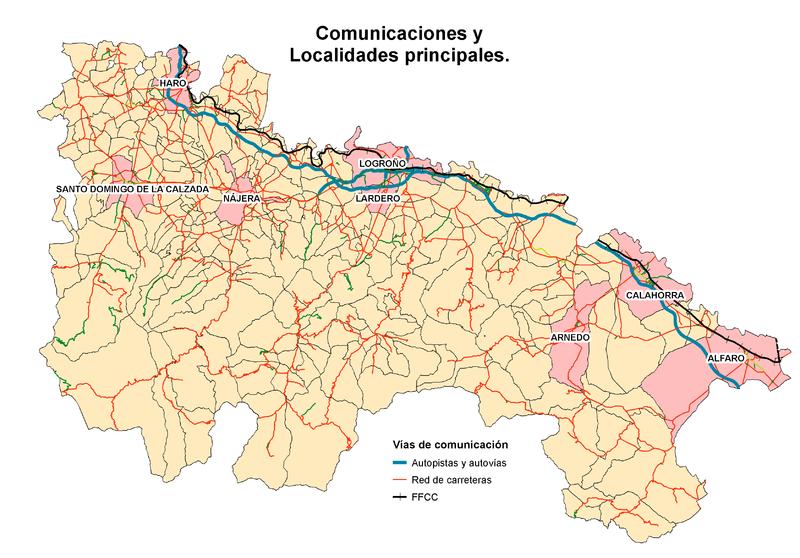 Principales localidades de La Rioja